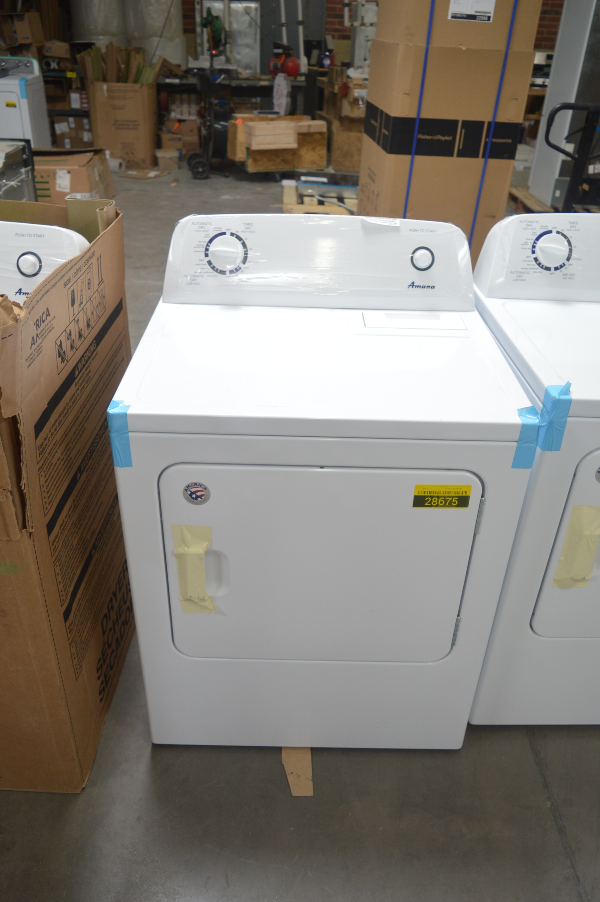 Amana NED4655EW Front Load Matching Electric Dryer White
