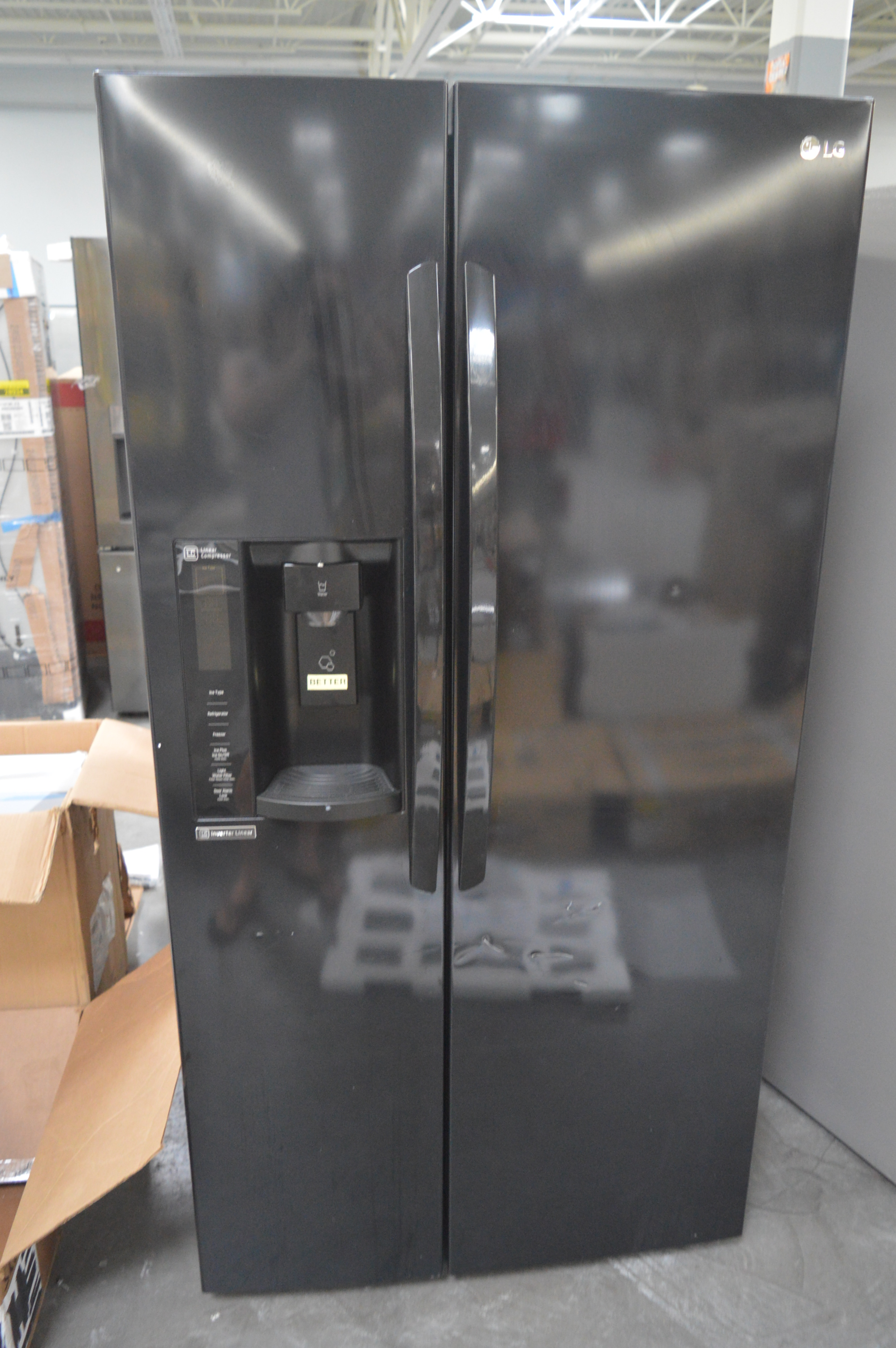 LG LSXS26326B Side By Side Refrigerator Black