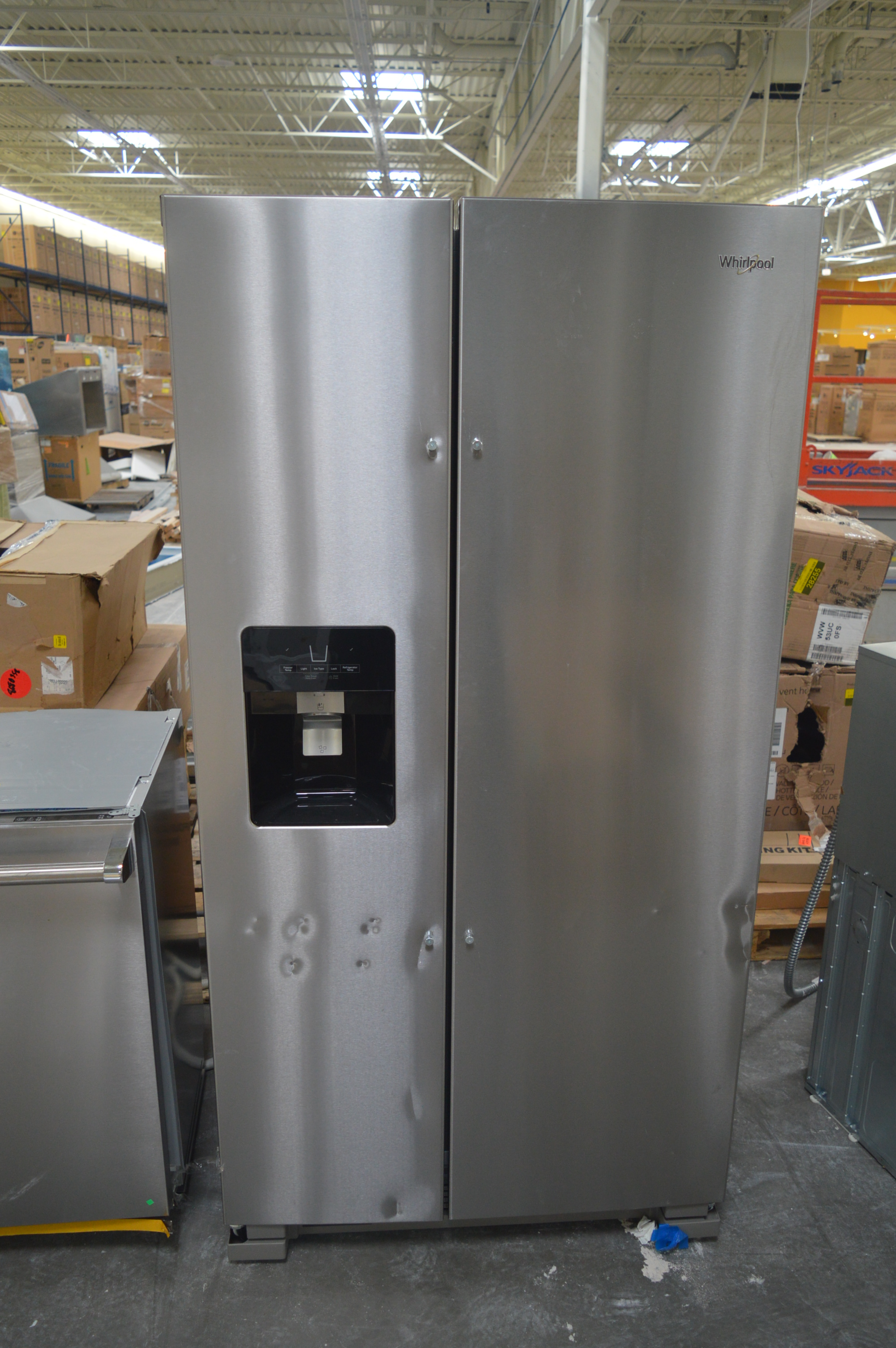Whirlpool WRS325SDHZ Side By Side Refrigerator Stainless