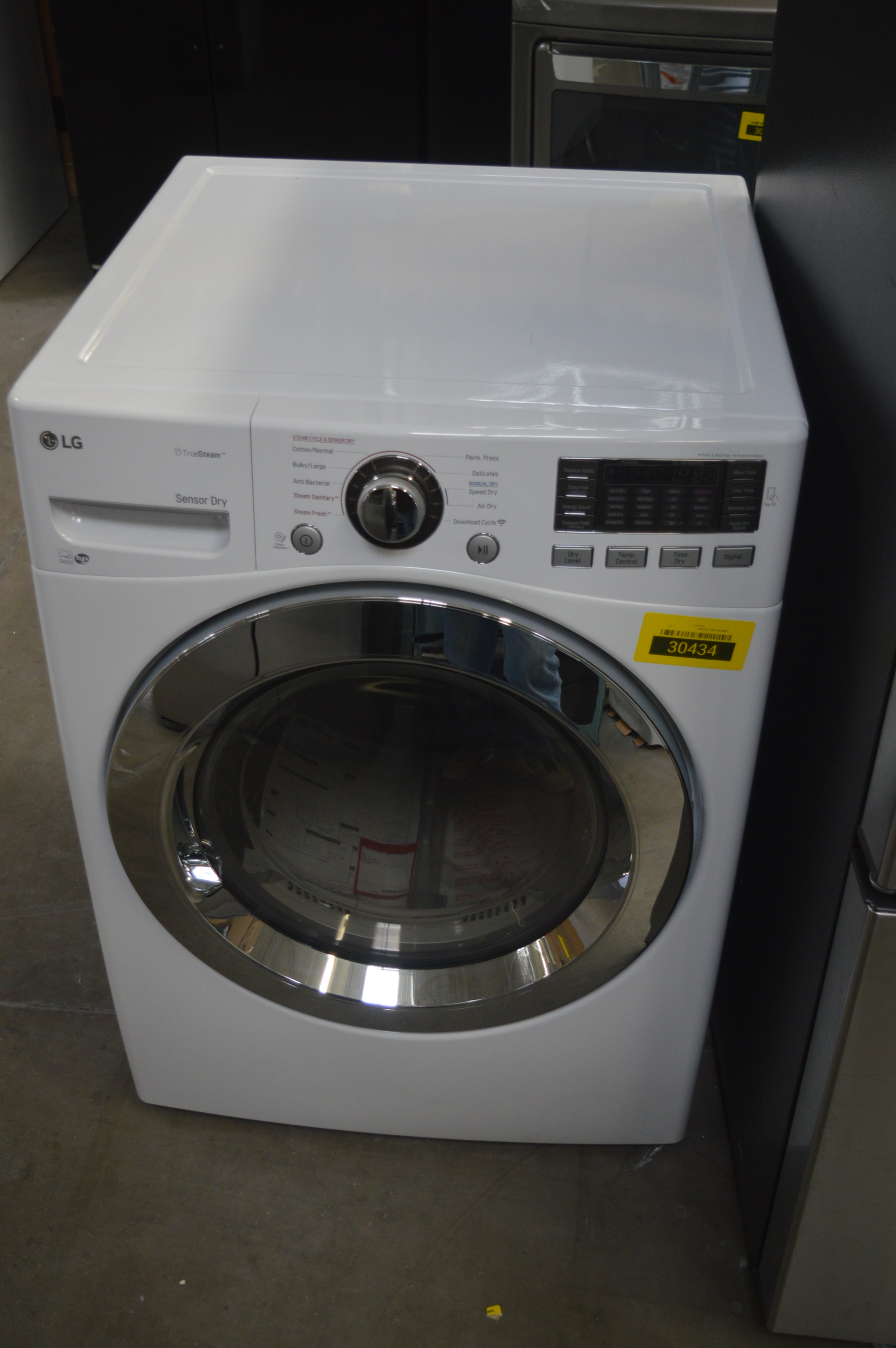 LG DLEX3370W Front Load Matching Electric Dryer White