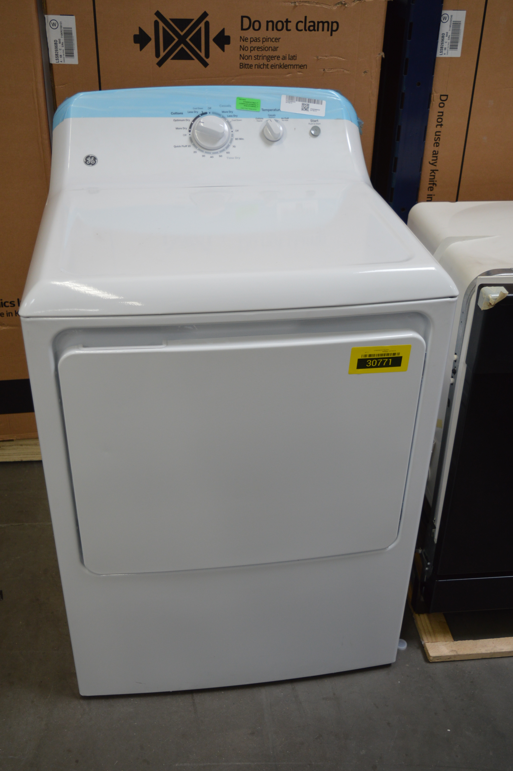 GE GTX22EASKWW Front Load Matching Electric Dryer White