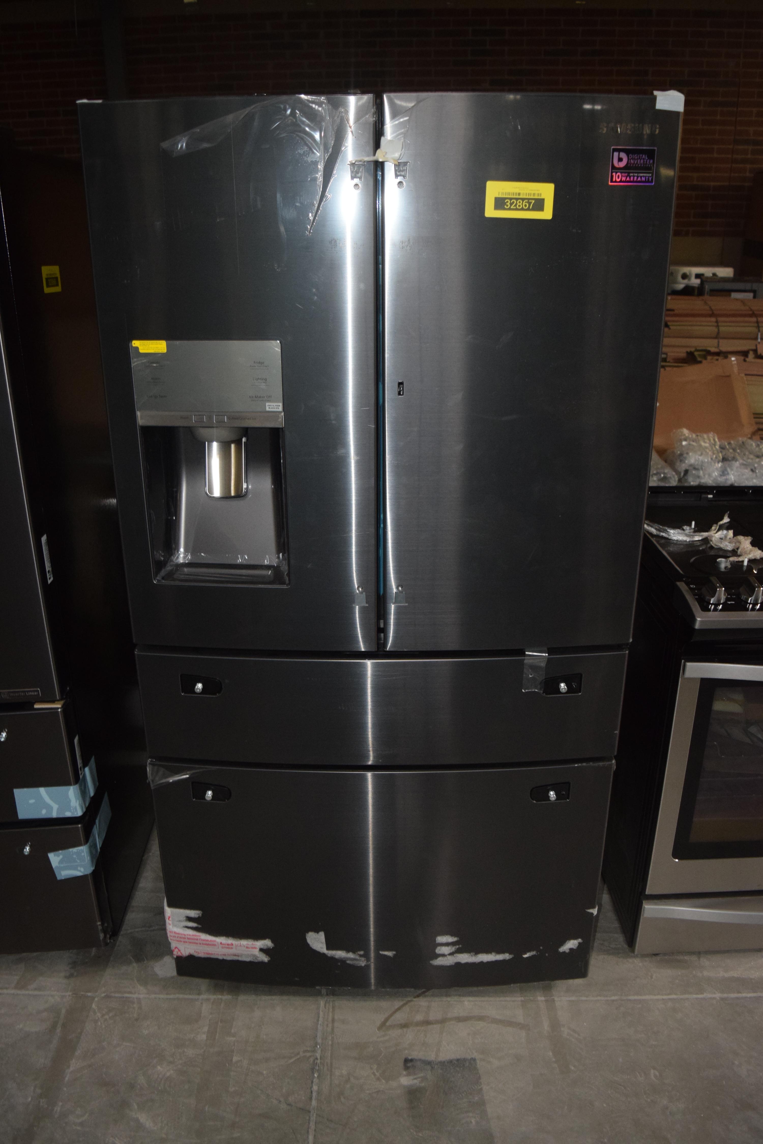 Samsung RF28JBEDBSG French Door Refrigerator Black Stainless Steel
