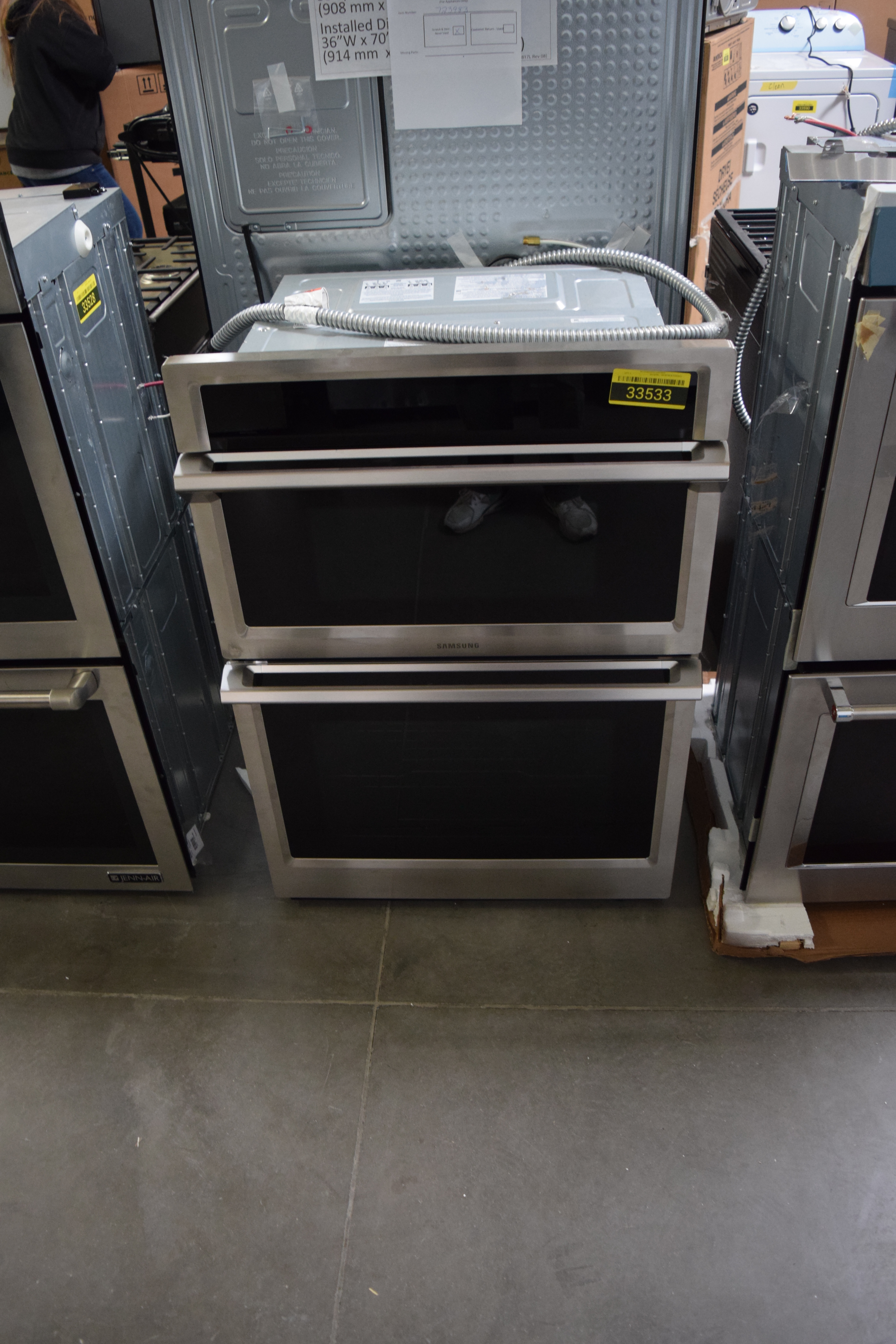 Samsung NQ70M6650DS Microwave-Oven Combo Wall Oven Stainless #33533