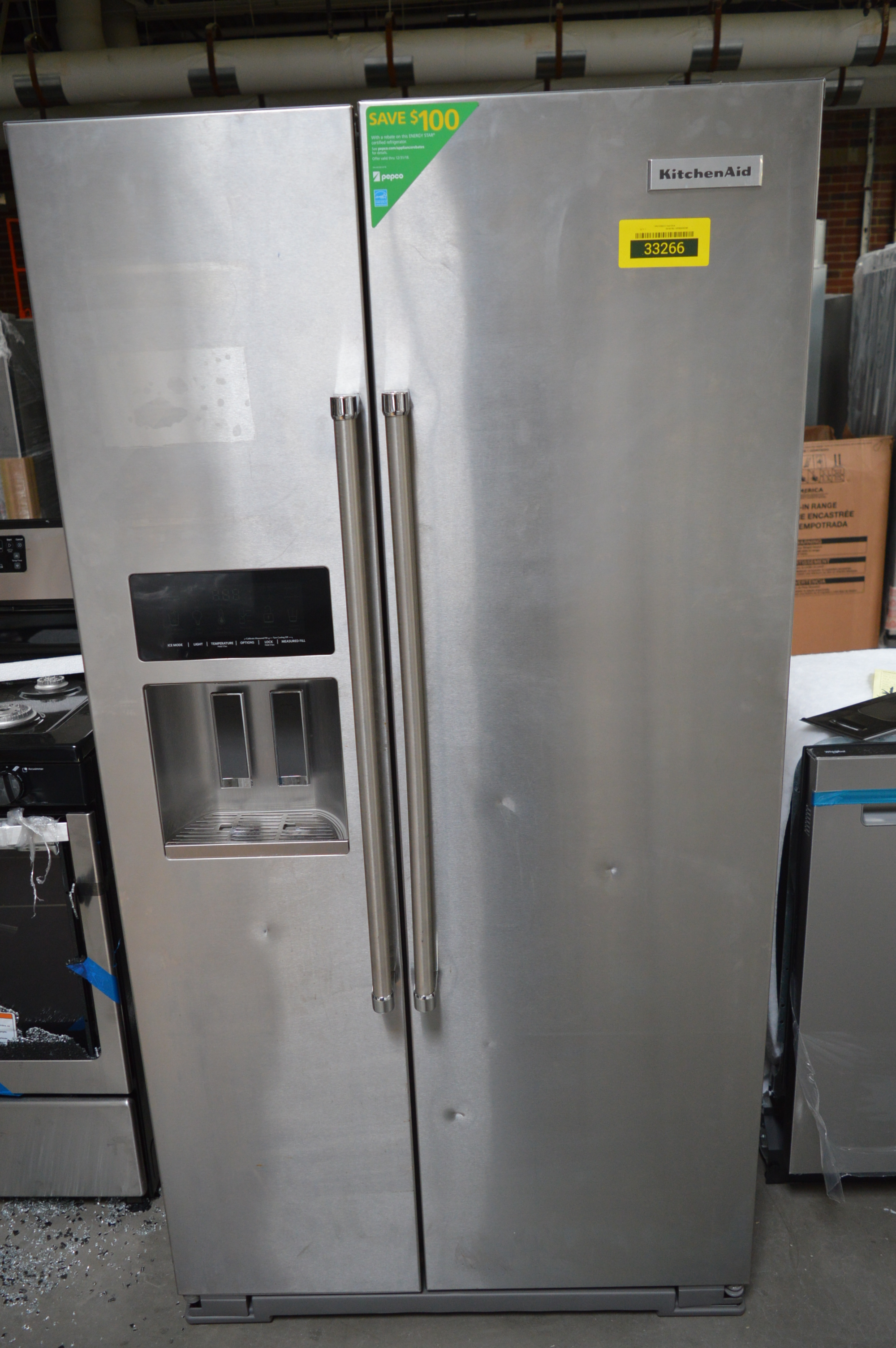 KitchenAid KRSF505ESS Side By Side Refrigerator Stainless
