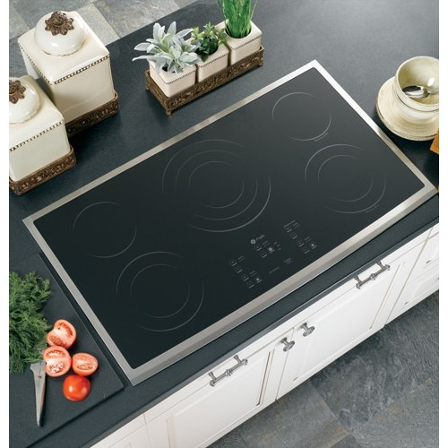 GE PP975SMSS 36 Stainless Electric Cooktop NIB #19115 CLW