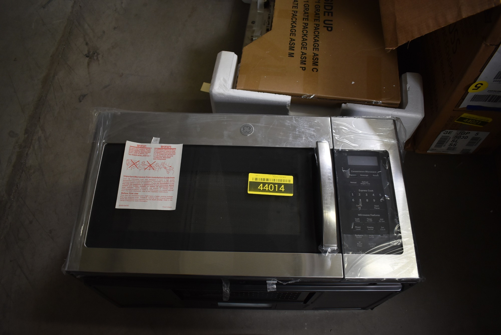 Ge Jvm6172skss 30 Quot Stainless Over The Range Microwave Nob
