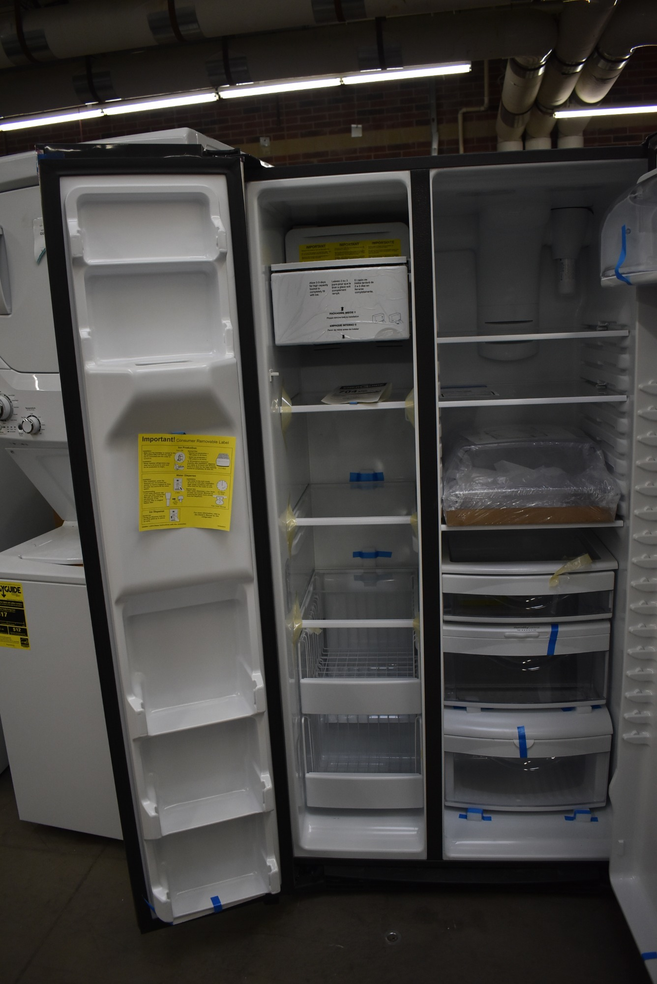 Ge Gss25iynfs 36 Quot Stainless Side By Side Refrigerator Nob