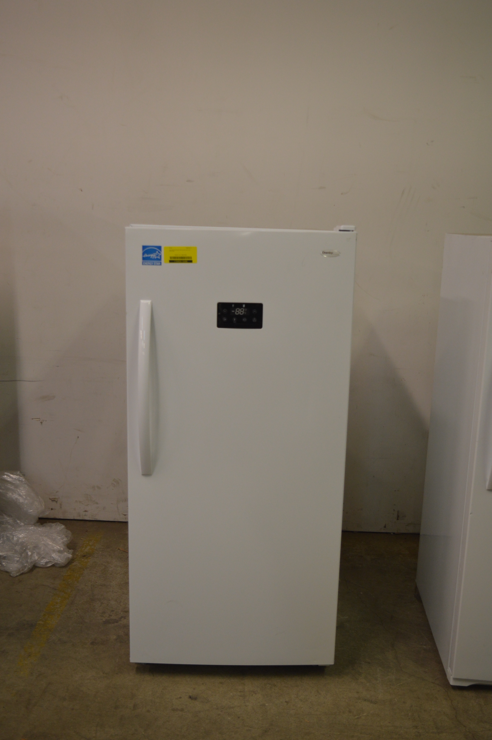 "Danby DUF138E1WDD 28"" White Upright Freezer 13.8 Cu.Ft. T"