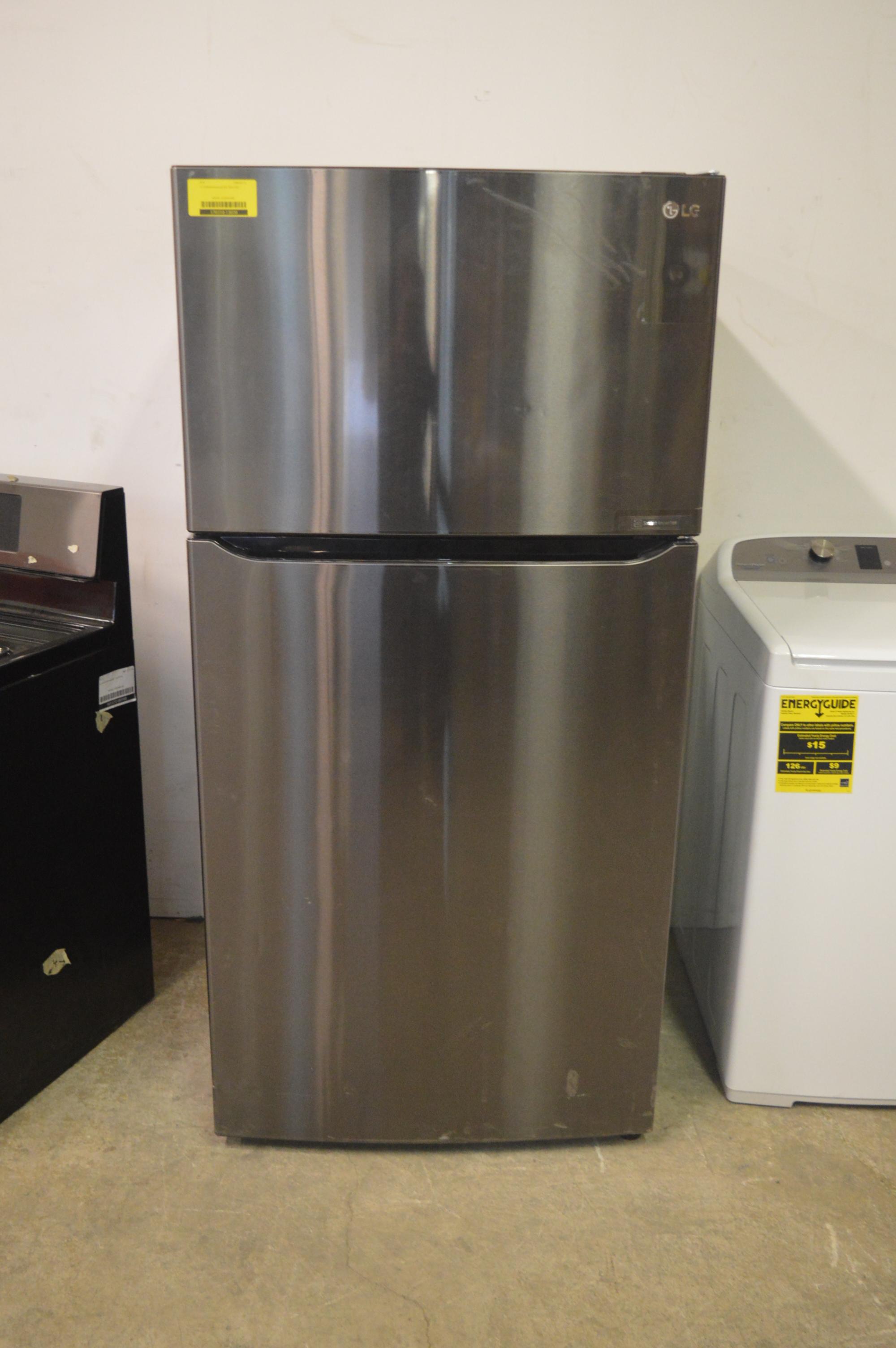 Lg Ltcs24223d 33 Quot Black Stainless Top Mount Refrigerator