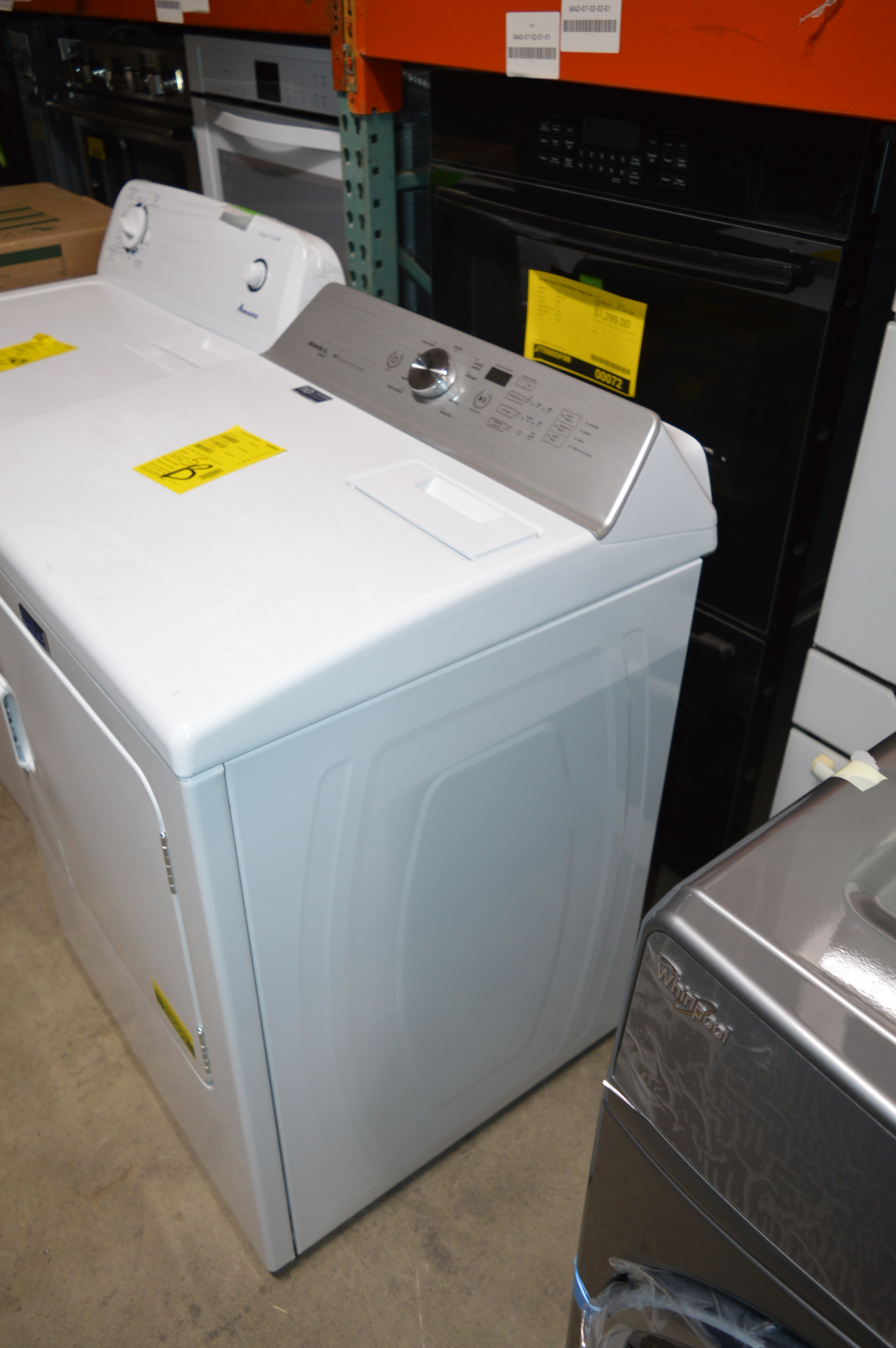 Maytag Medb766fw 29 Quot White Front Load Electric Dryer Nob