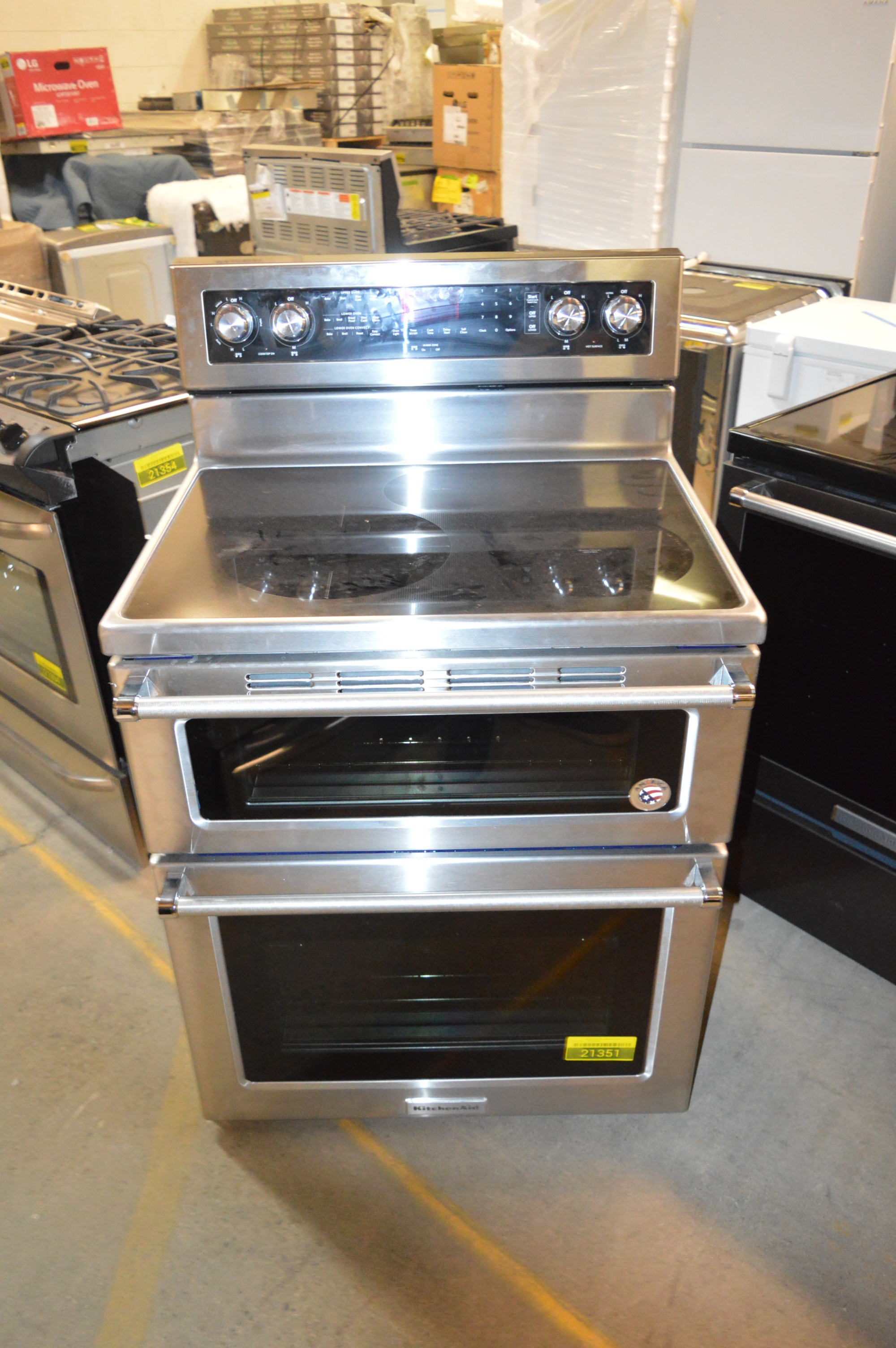 Kitchenaid Kfed500ess 30 Stainless Double Oven Electric Range