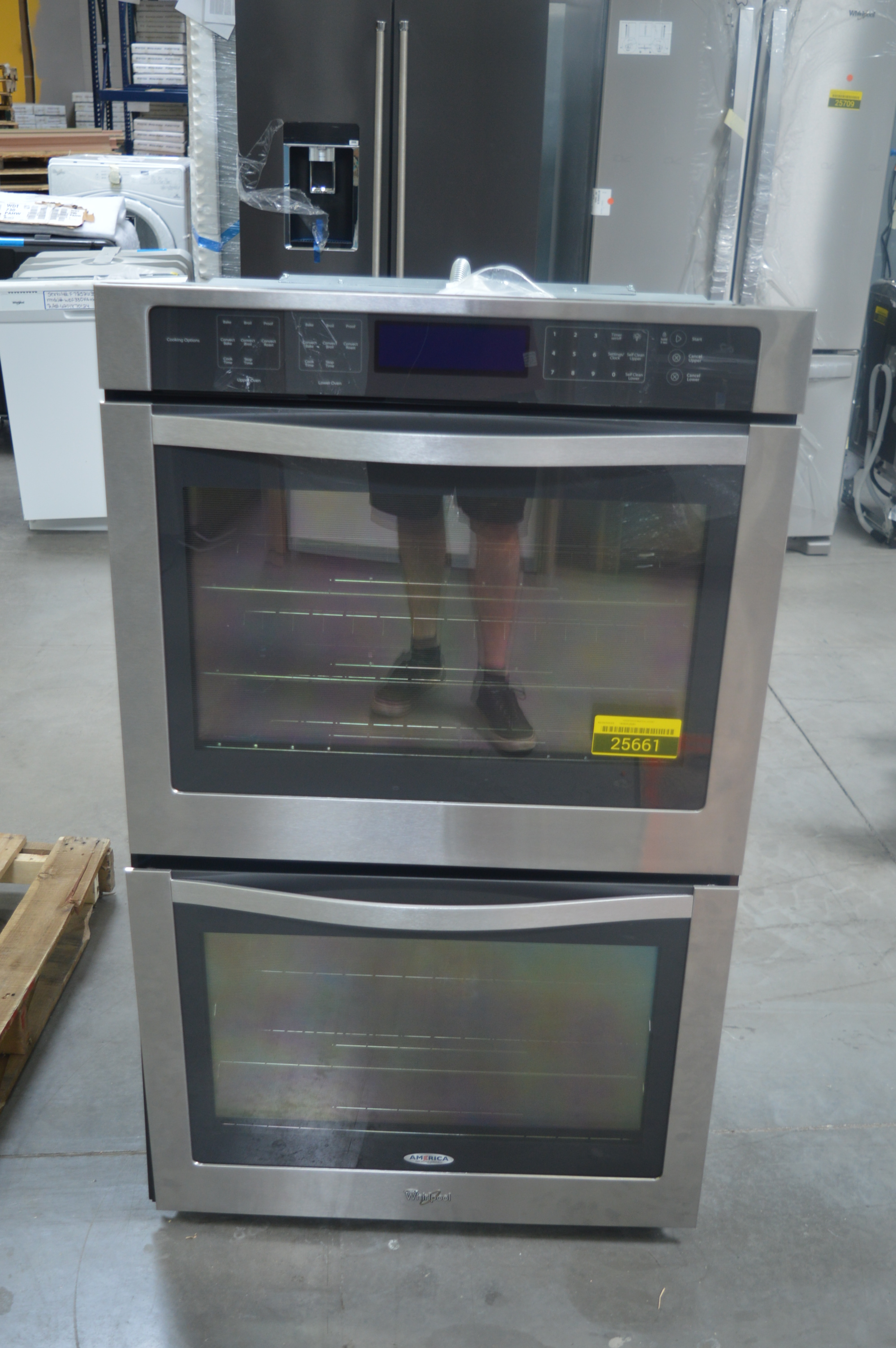 Whirlpool Wod97es0es 30 Quot Stainless Double Electric Wall